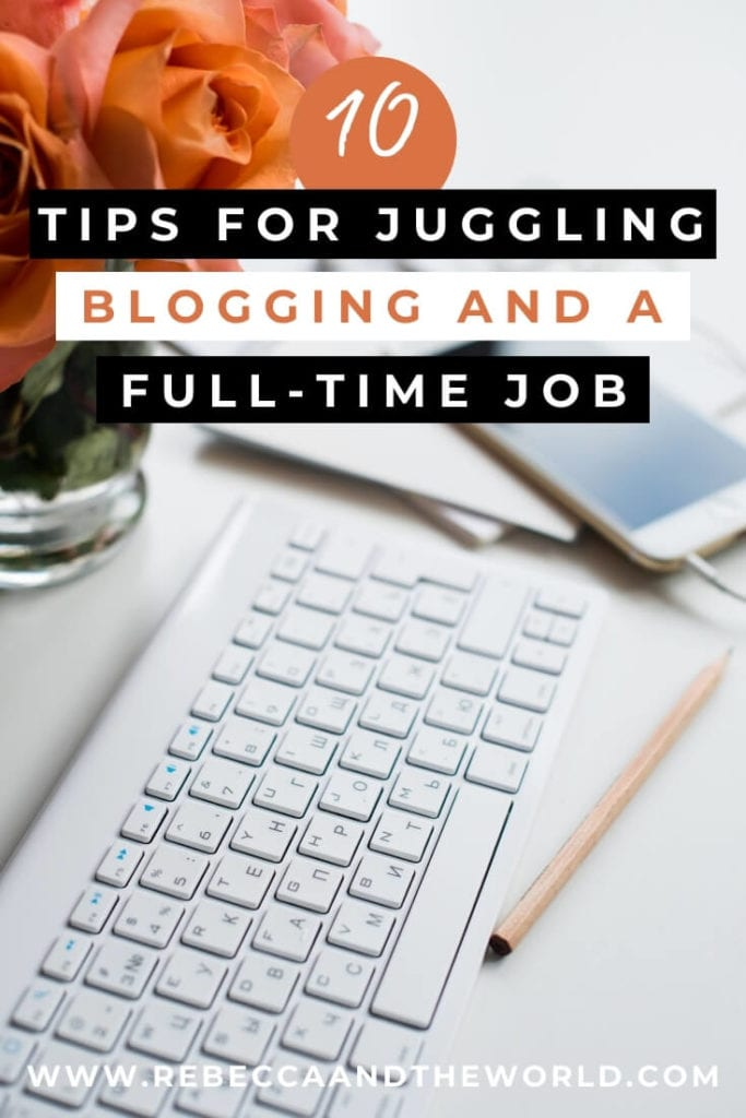 Working full time and managing a travel blog is hard work! Several successful travel bloggers share their blogging tips and tricks and how they manage to juggle both - without going crazy! | #travelblogger #travelblog #bloggingtipsandtricks #howtotravelblog #blogging