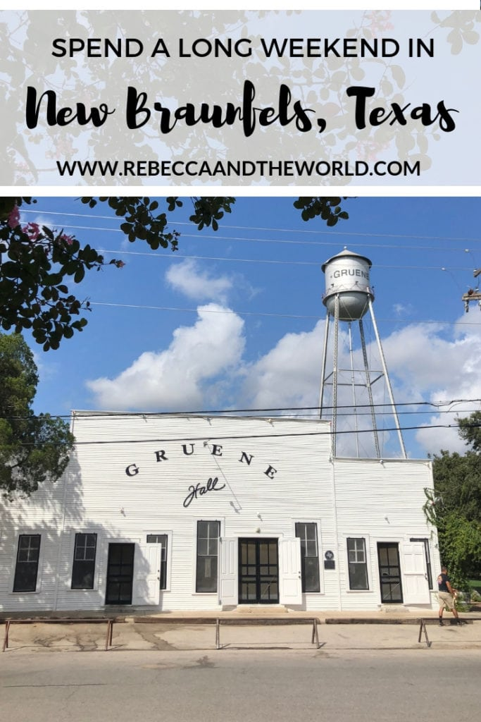 New Braunfels in Texas's Hill Country is a great place to spend a long weekend. There are plenty of things to do here - wander historic Gruene, go shopping at the farmers market, tube down one of the city's two rivers or sip Texan wines. This guide shows you everything you need to do, along with where to eat in New Braunfels, where to stay and when to visit. | #newbraunfels #texas #hillcountry #gruene #gruenehall #thingstodoinnewbraunfels #weekendtrip #travelguide