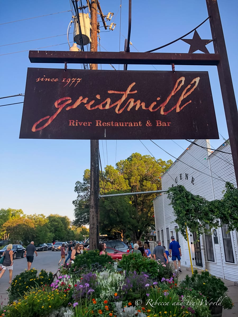 Wondering where to eat in New Braunfels? Start at the iconic Gristmill restaurant