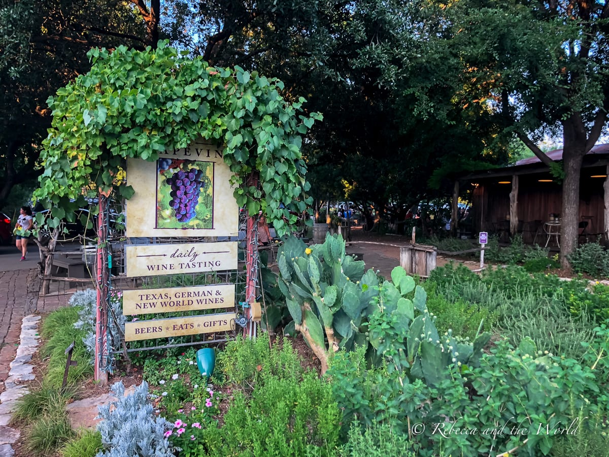 Sip some Texas wine at the Grapevine bar in New Braunfels