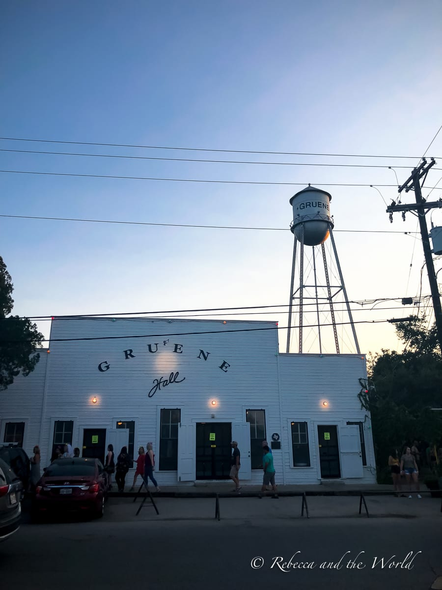 Seeing a show at the Gruene Hall should be top of your list of things to do in New Braunfels