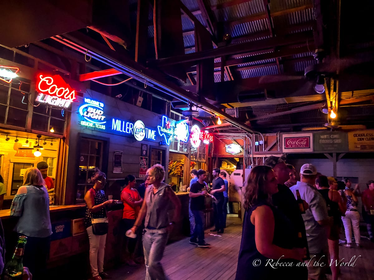 Memorabilia dating back to the 30s line the walls of Gruene Hall