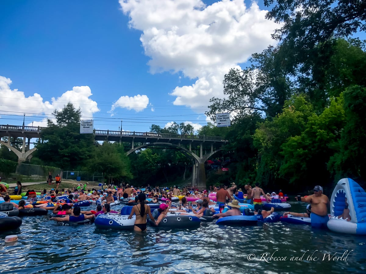 Tubing in Texas - in New Braunfels - is a fun way to spend a few hours