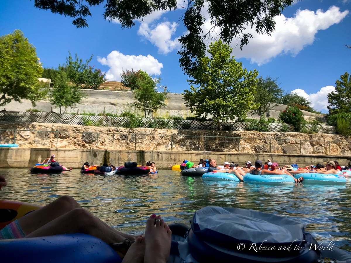 There are two rivers in New Braunfels for tubing - we chose the Comal River