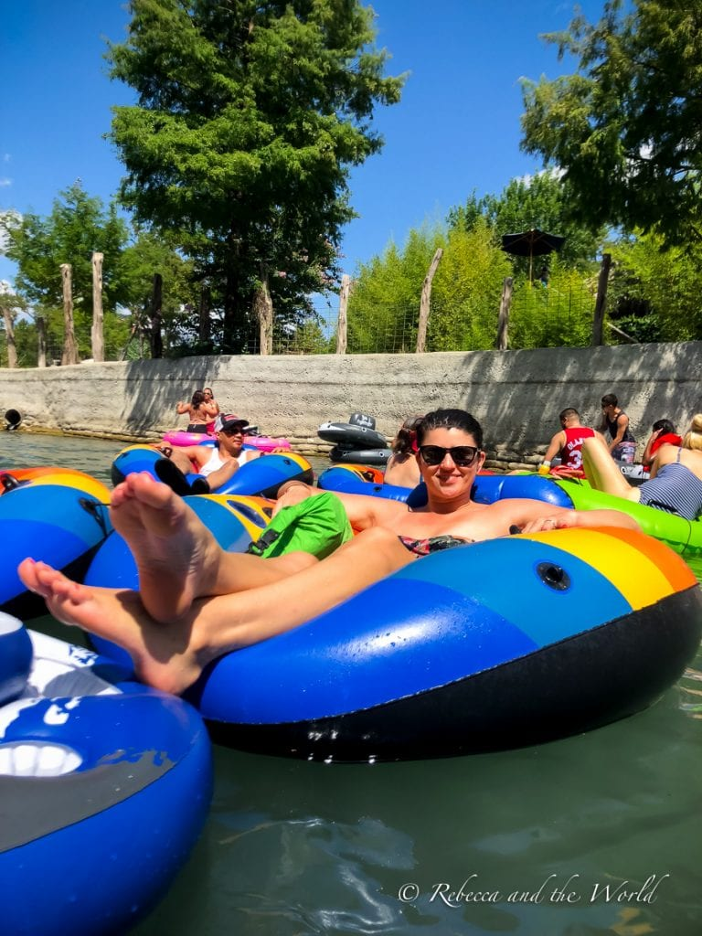 I had so much fun tubing in New Braunfels!