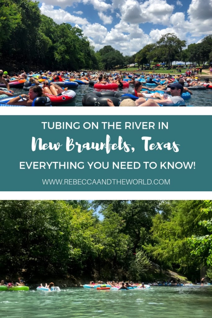 Looking for some summer fun? Head to New Braunfels, Texas, and spend a day floating on the river! This guide provides all the essentials: which river to choose, what to take with you, how to choose an outfitter and the rules to know. | #river #newbraunfels #tubinginnewbraunfels #rivertubing #summer #floating #tubing #riverfloat #texas #hillcountry
