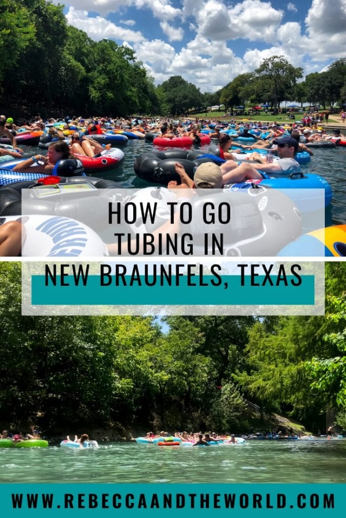 Looking for some summer fun in Texas? Head to New Braunfels, Texas, and spend a day floating on the river! This guide provides all the essentials for tubing in New Braunfels: which river to choose, what to take with you, how to choose an outfitter and the rules to know. | #river #newbraunfels #tubinginnewbraunfels #rivertubing #summer #floating #tubing #riverfloat #texas #hillcountry