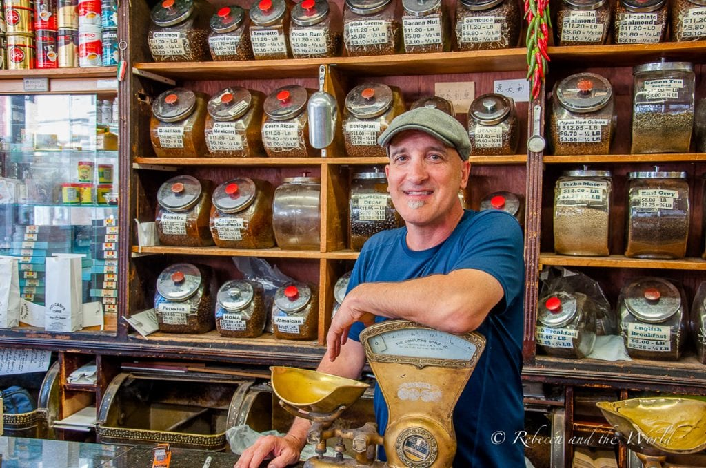 Bobby from Polcari's explains the history of this historic store in Boston's North End