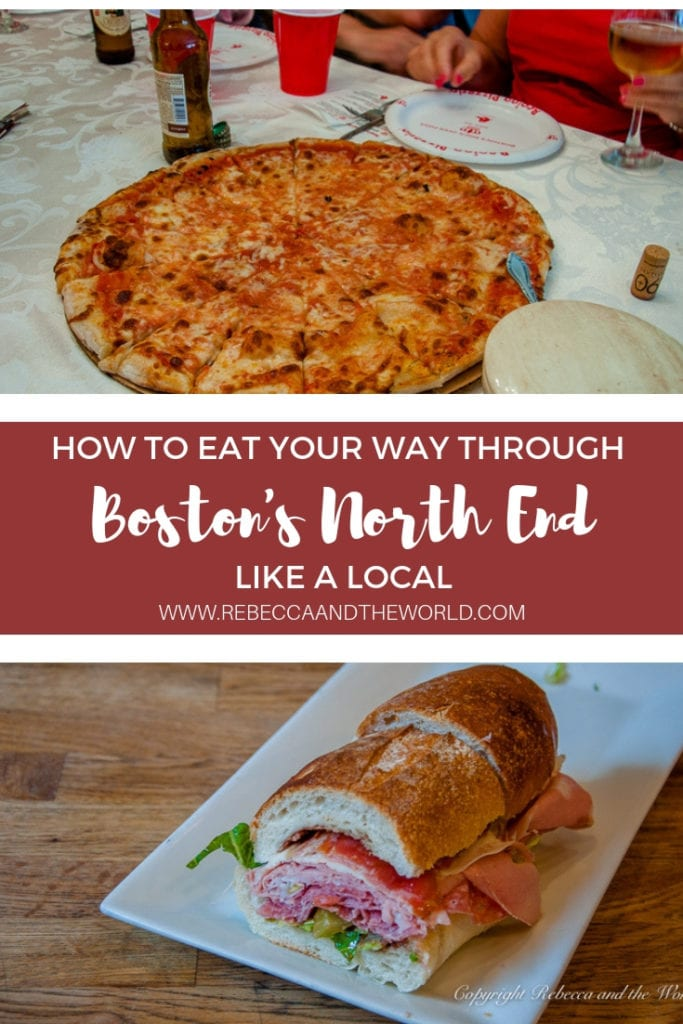 Boston's North End is famous for its Italian food. Explore the North End on a Boston food tour run by a local who's spent his whole life living in Boston's North End. | #boston #bostonma #bostonfoodtour #foodie #foodtour #bostonnorth end #northend #newengland #weekendtrips #weekendgetaway #food #pizza #cannoli #italianfood