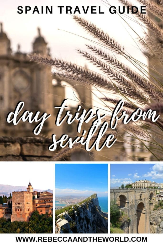While Seville has enough to keep you busy for days or weeks, consider one of these 12 day trips from Seville. You'll escape the city for the famous pueblos blancos, beautiful beaches, historical cities and even a day trip into Portugal! | #daytrips #seville #spain #andalucia #sevillethingstodo #sevilledaytrips
