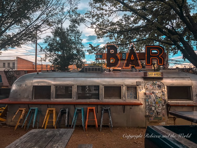 Grab a drink at Truck Yard on your weekend in Dallas, one of the coolest bars in Dallas