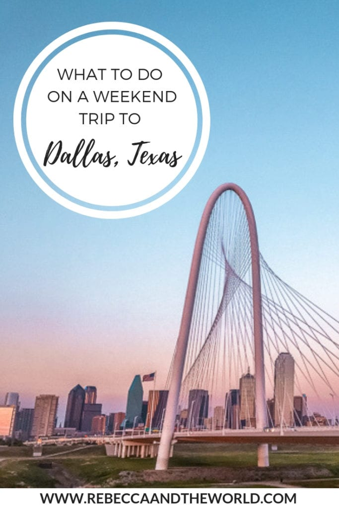 The US's 9th largest city has a lot to keep you busy. From eating and drinking, to cultural and historical pursuits, to wandering cute neighbourhoods, here's what to do on a weekend trip to Dallas, Texas. | #dallas #dallastx #texas #dallasweekendgetaway #dallasweekendtrip #thingstodoindallas #cityguide #foodie #dallastravelguide #travel