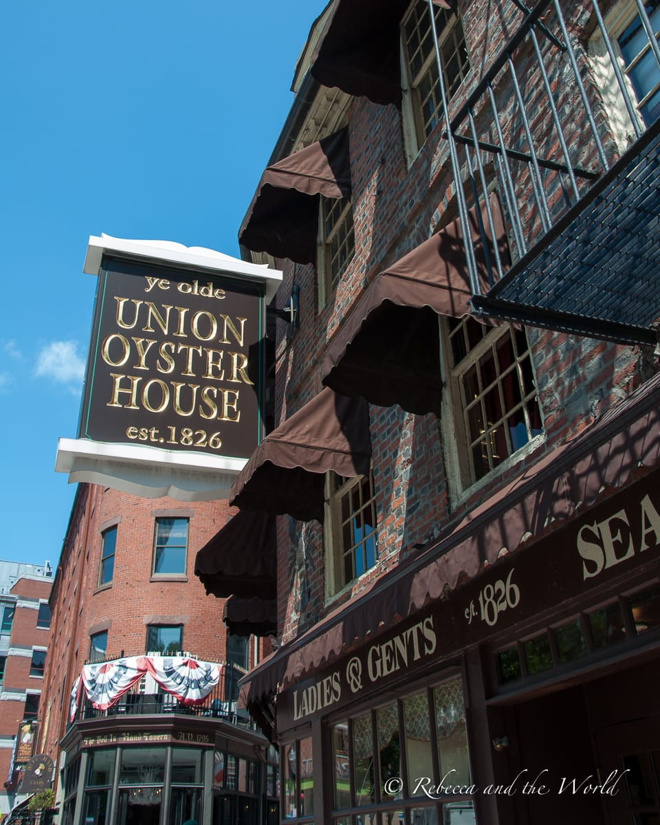 Union Oyster House is the oldest operating restaurant in the United States