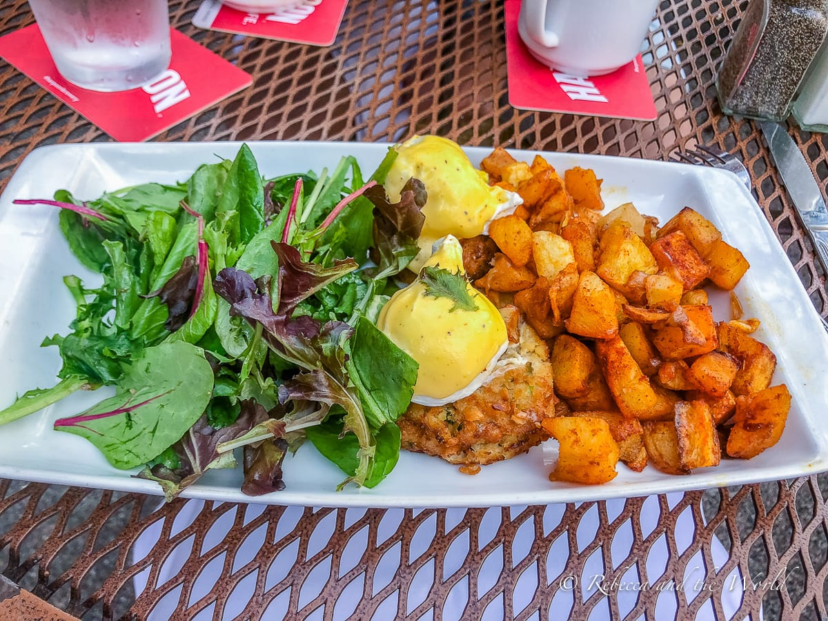 The crab cake Benedict from Stephanie's is a great brunch choice