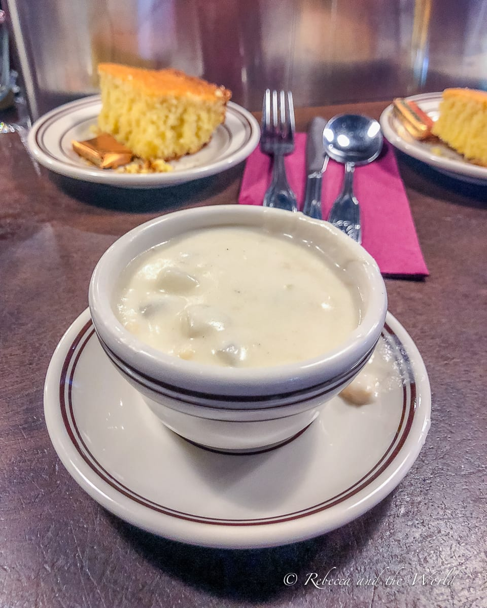 I was surprised that I liked clam chowder so much - it's delicious!