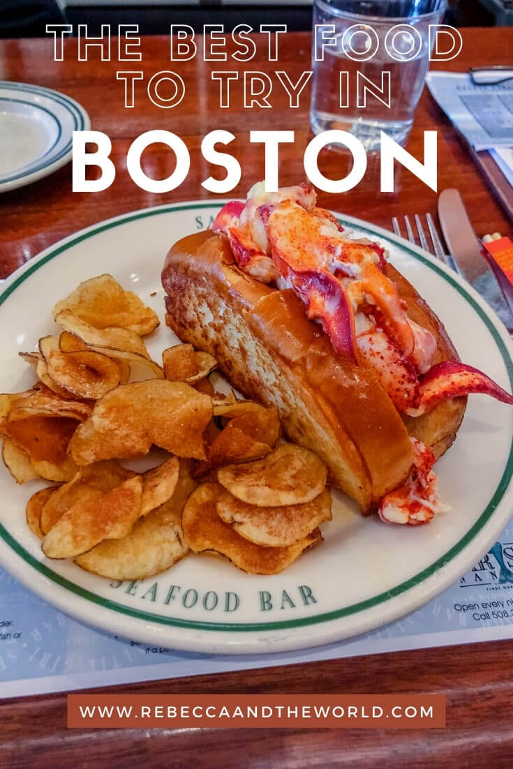 Boston is a city full of history - and great food. Read on for what to eat in Boston, including where to get the best lobster rolls, cannoli and clam chowder. | #boston #massachussetts #whattoeatinboston #foodie #foodietravels #whattodoinboston #newengland #lobsterroll #clamchowder #pizza #pasta