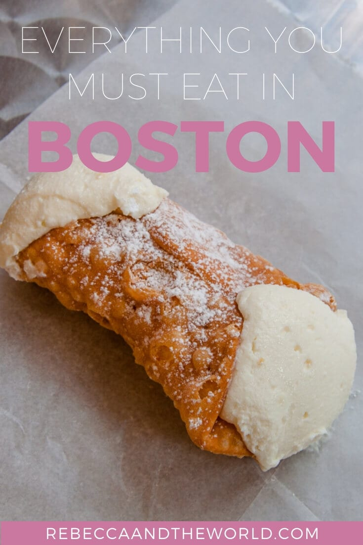 Boston is a city full of history - and great food. Read on for what to eat in Boston, including where to get the best lobster rolls, cannoli and clam chowder. | #boston #massachussetts #whattoeatinboston #thingstoeatinboston #bostonrestaurants #whattodoinboston #newengland #usatravel