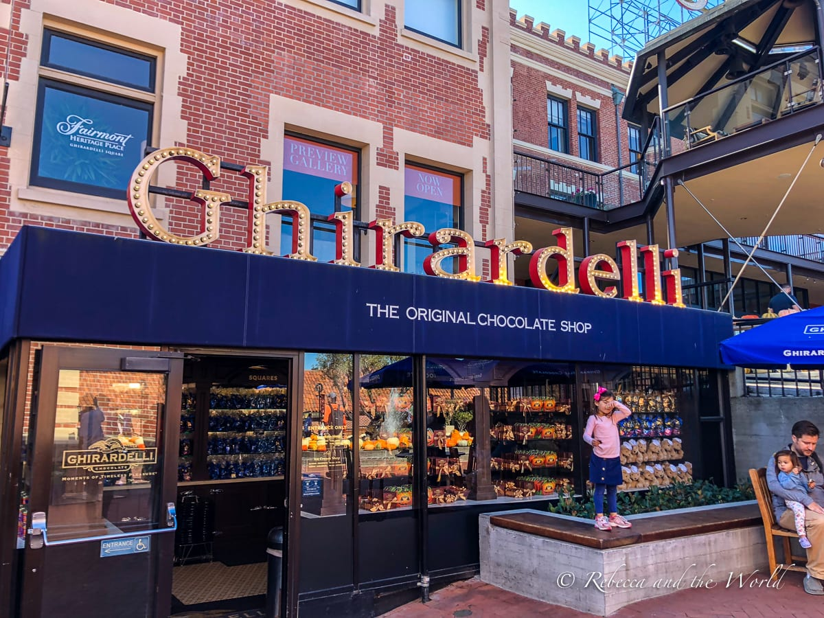 Stop by Ghirardelli in San Francisco to try the amazing ice cream sundae!