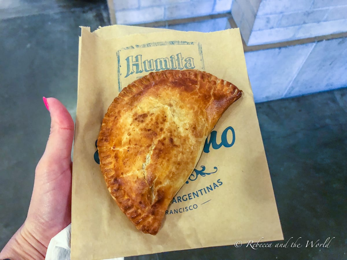 The empanadas at El Porteno in San Francisco are delicious
