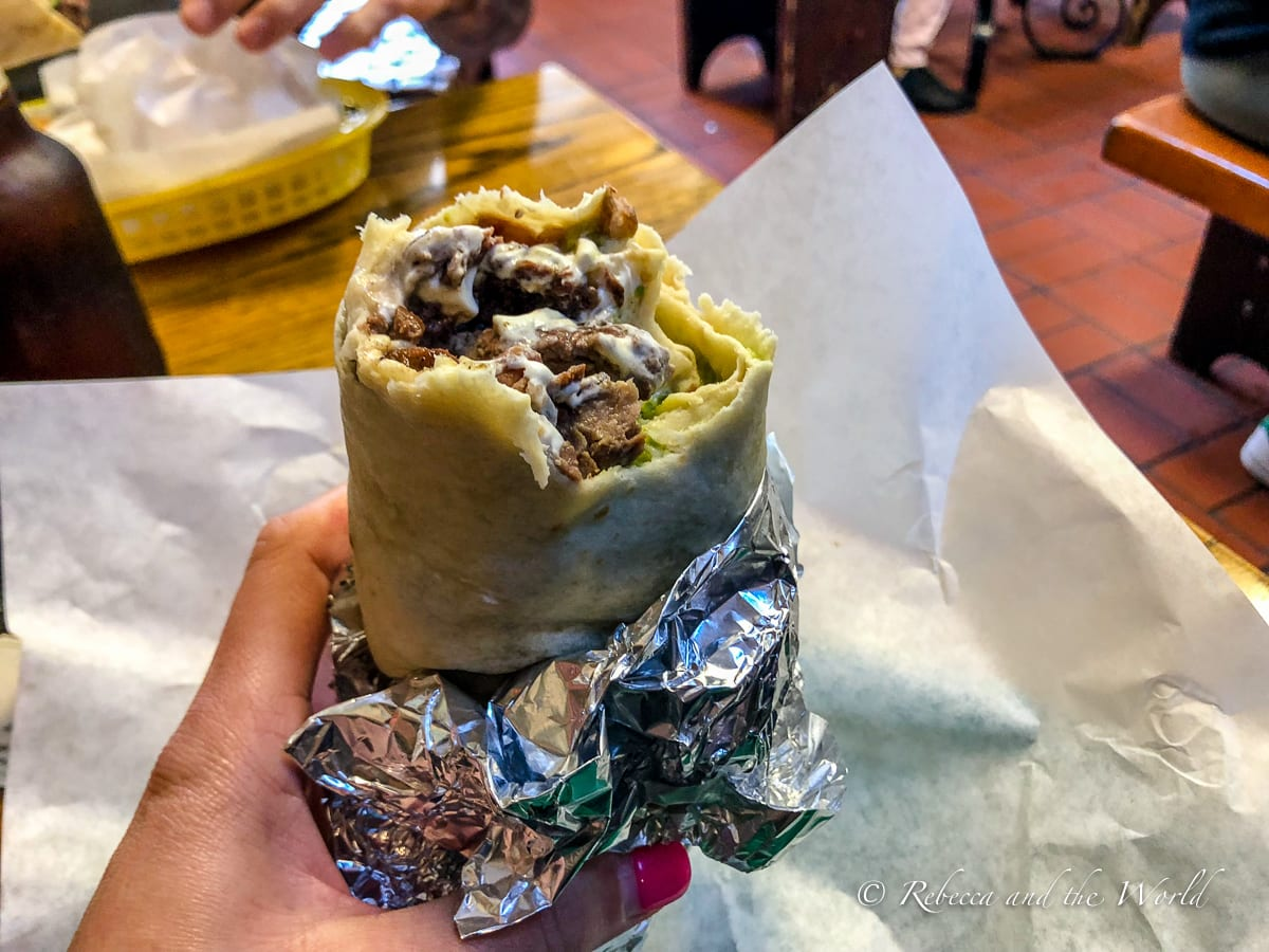 The burrito at La Taqueria in San Francisco has been voted the best burrito in the world