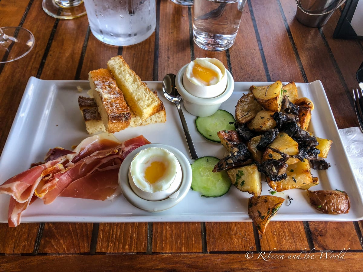 Stop in Sausalito on your way to Sonoma, and grab brunch at Le Garage