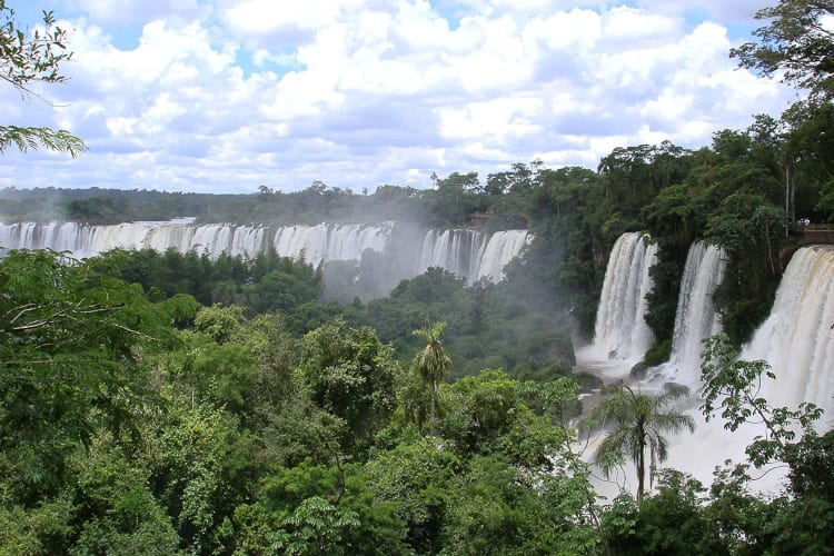 Iguazu Falls is just a short flight from Buenos Aires, and exploring the thunderous falls is a great way to spend a honeymoon.