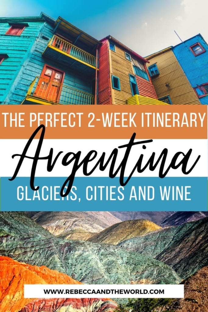 If you've only got 2 weeks in Argentina, check out this awesome Argentina itinerary (from someone who lived there). This 2-week itinerary will see you exploring cities, trekking on glaciers, walking under waterfalls and tasting wine in South America's most diverse country. | Things to do in Argentina | Visit Argentina | South America Travel | Places to Visit in Argentina | #Argentina #southamericatravel #buenosaires #patagonia #argentinatravel #argentinaitinerary #whattodoinargentina