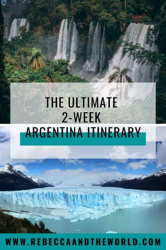 If you've only got two weeks to explore Argentina, then check out this awesome Argentina itinerary. This 2-week itinerary will see you exploring big cities, trekking on glaciers, walking under waterfalls and tasting wine in South America's most diverse country. | #argentina #southamerica #buenosaires #iguazufalls #northargentina #salta #patagonia #argentinatravel #argentinaitinerary #whattodoinargentina