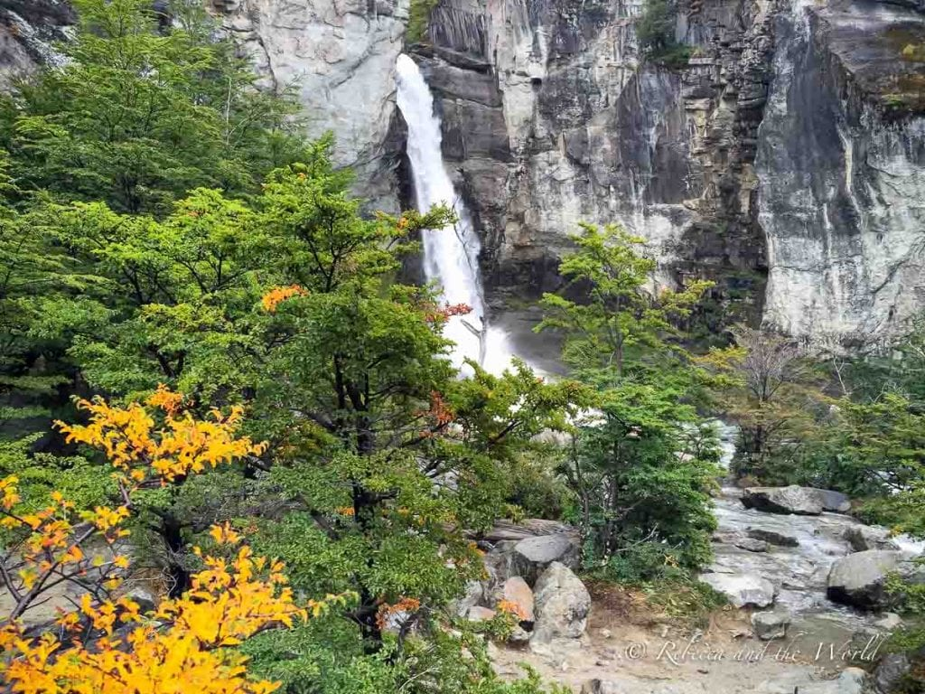 The Chorrillo del Salto hike in El Chalten leads to a lovely waterfall