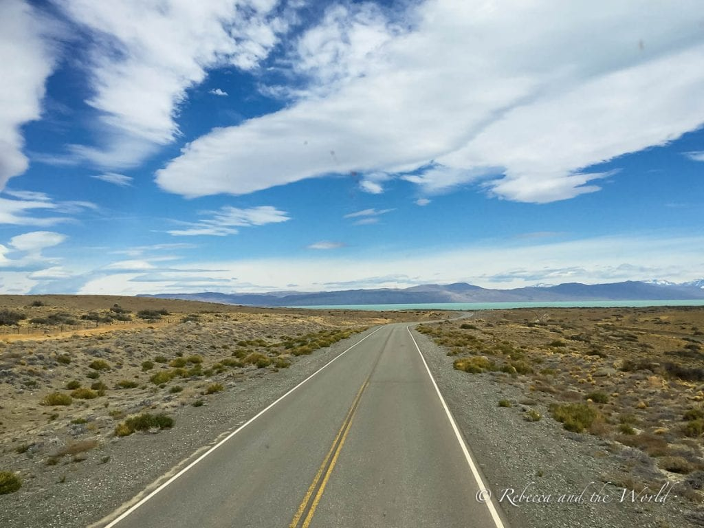 The journey from El Calafate to El Chalten is really beautiful