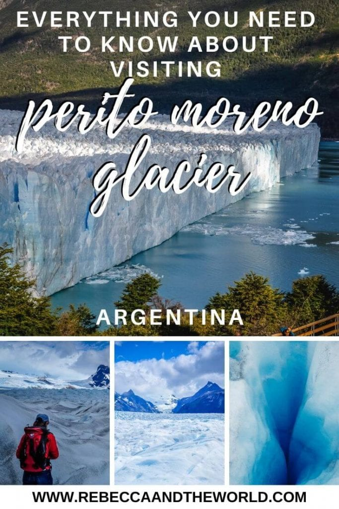 Have you ever trekked on a glacier? You can in Patagonia, Argentina. Enjoy trekking Perito Moreno Glacier, a huge glacier that's growing every day. Click through to read this guide to everything you need to know about visiting Perito Moreno Glacier. | #Argentina #Patagonia #PeritoMoreno #glacier #PeritoMorenoGlacier #trekking #hiking #outdoors #southamerica