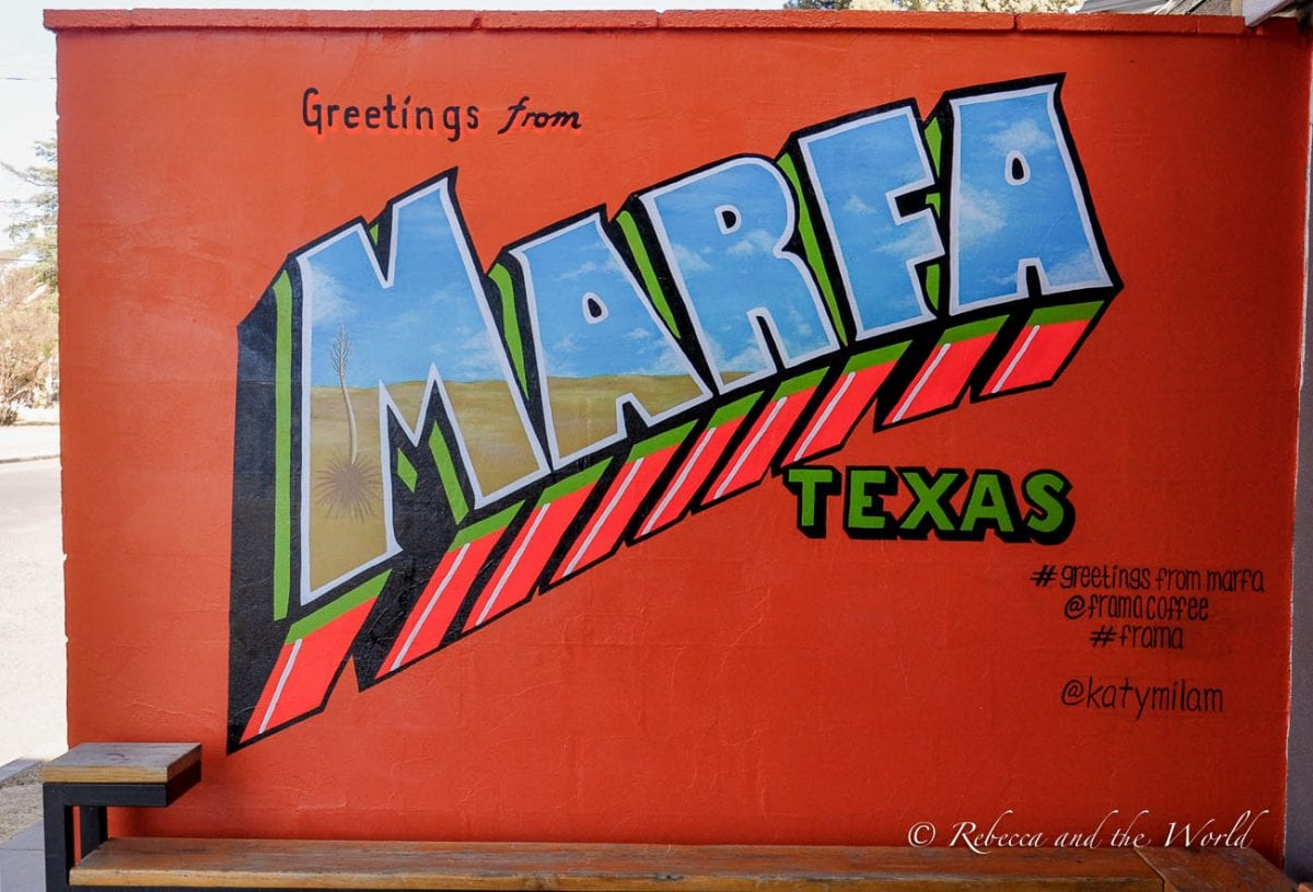 Marfa is a unique place to go in Texas