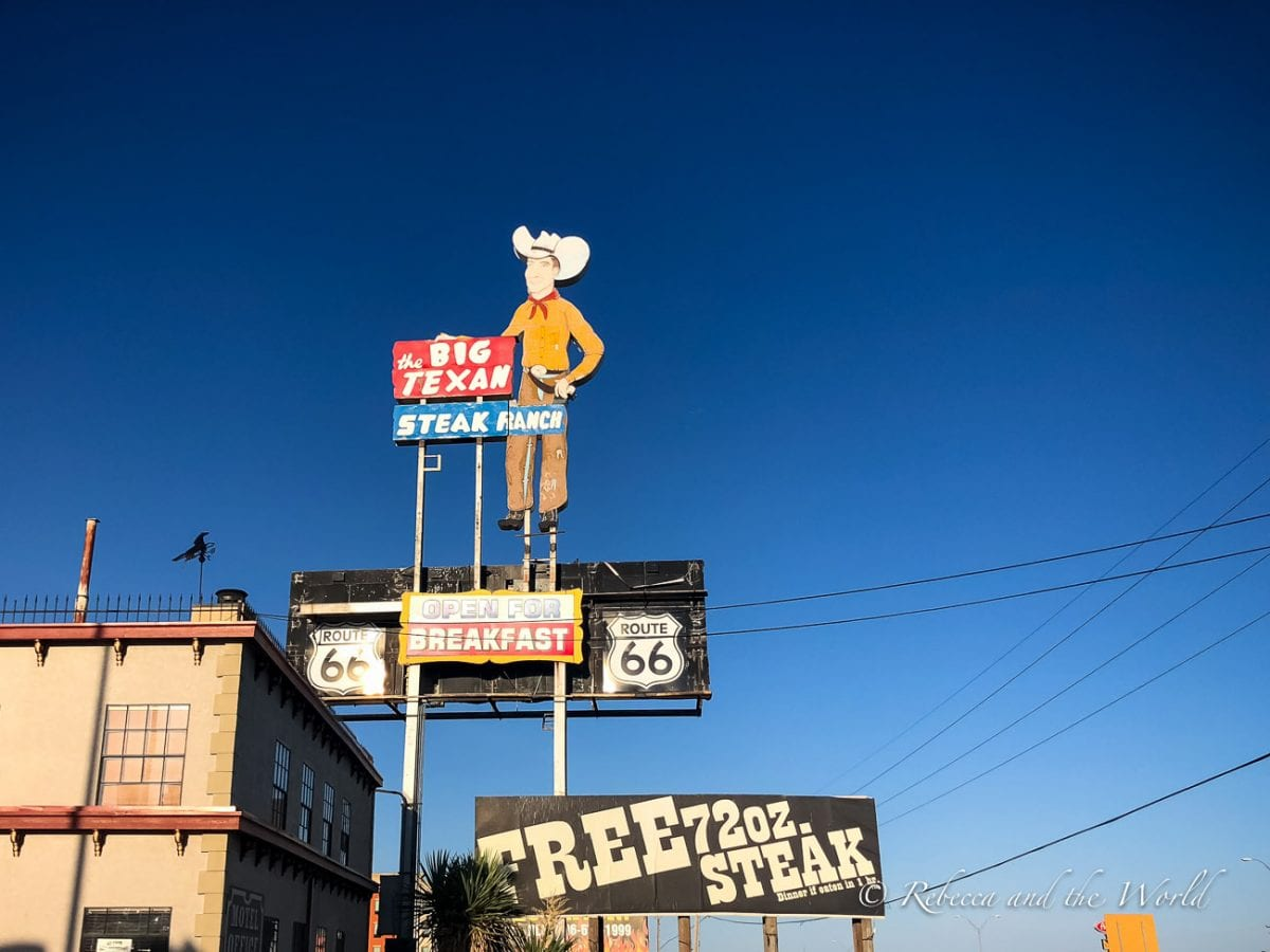 The Big Texan in Amarillo, Texas, is famous for its steak-eating challenge