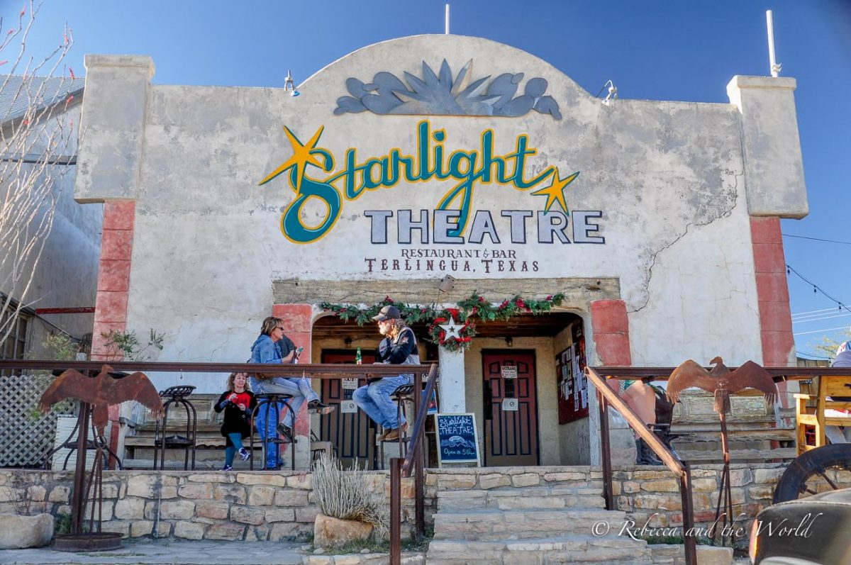 The Starlight Theatre in Terlingua, Texas, is a great place for music and good food