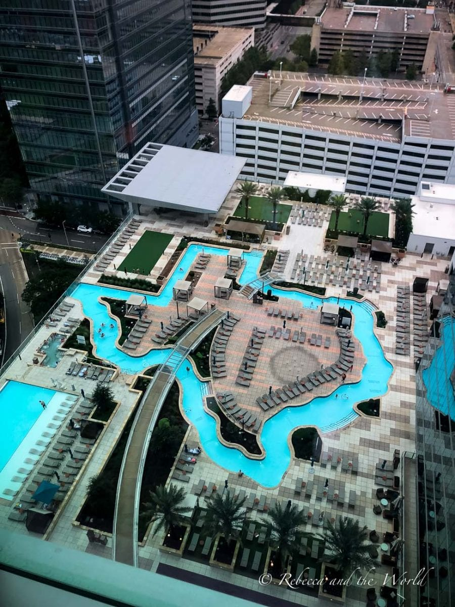 The Marriott Marquis Houston is a fun hotel to stay