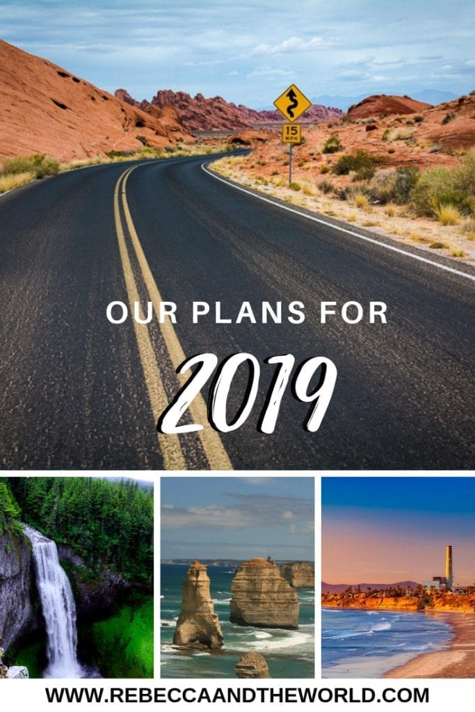 Our 2019 plans: 2019 is going to be a big year for us! Read on to find out why - and share your tips and recommendations! | #2019 #roadtrip #usa #australia #travel #gapyear