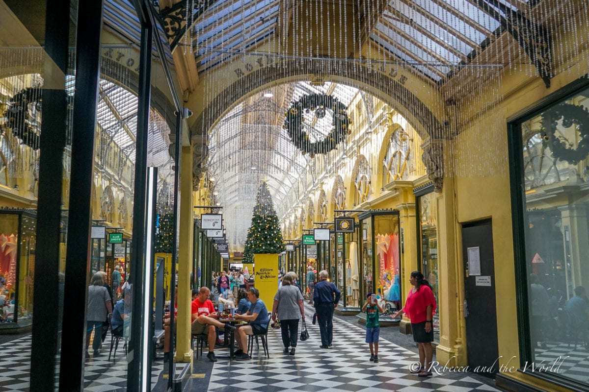 Getting lost in the city's laneways and beautiful arcades is one of the best things to do in Melbourne, Australia
