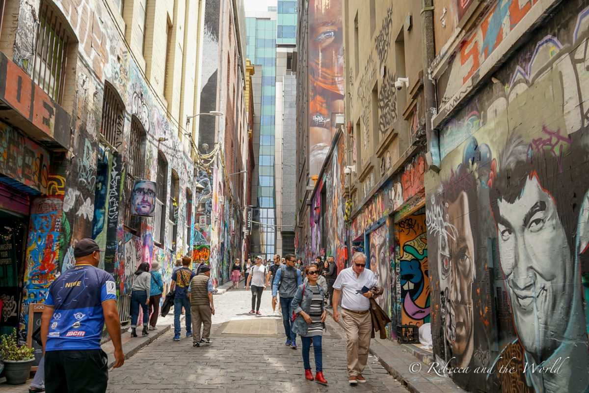 Melbourne is famous for its street art and laneways are covered with art from famous street artists