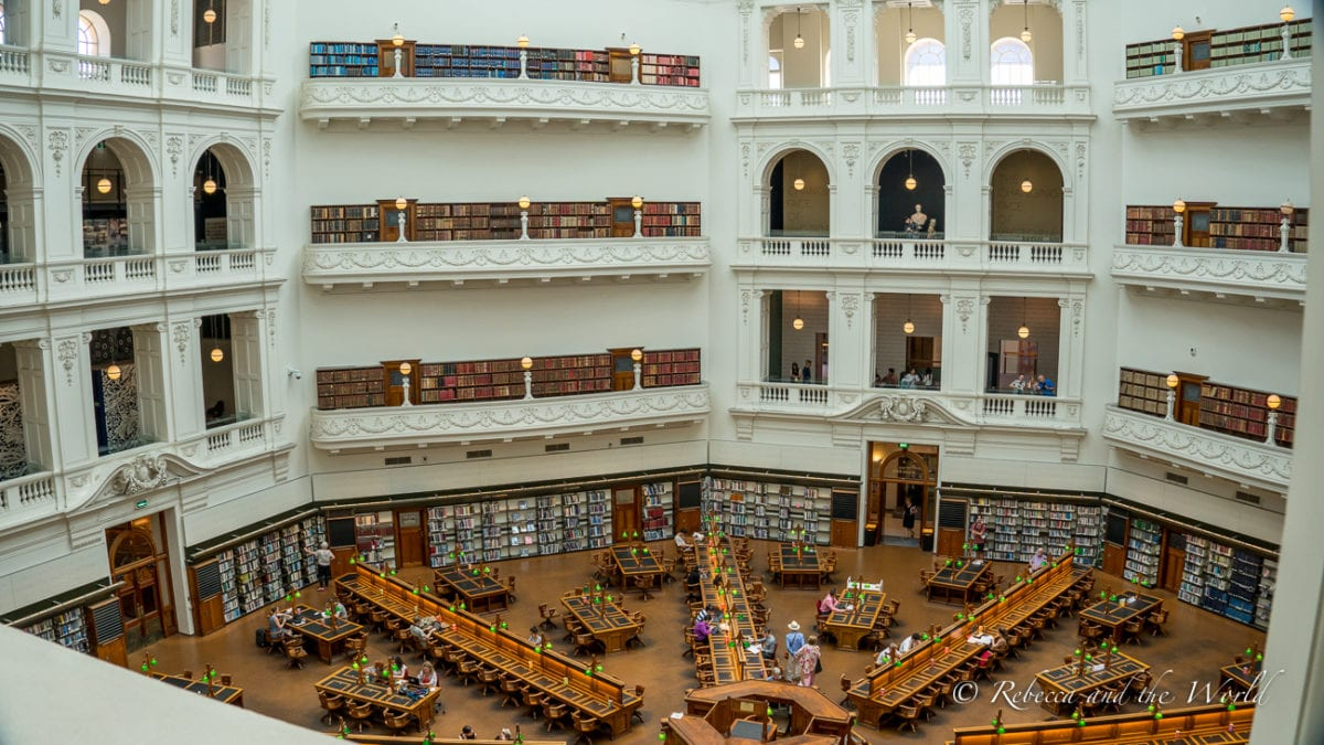 The State Library Victoria is one of Melbourne's most beautiful buildings