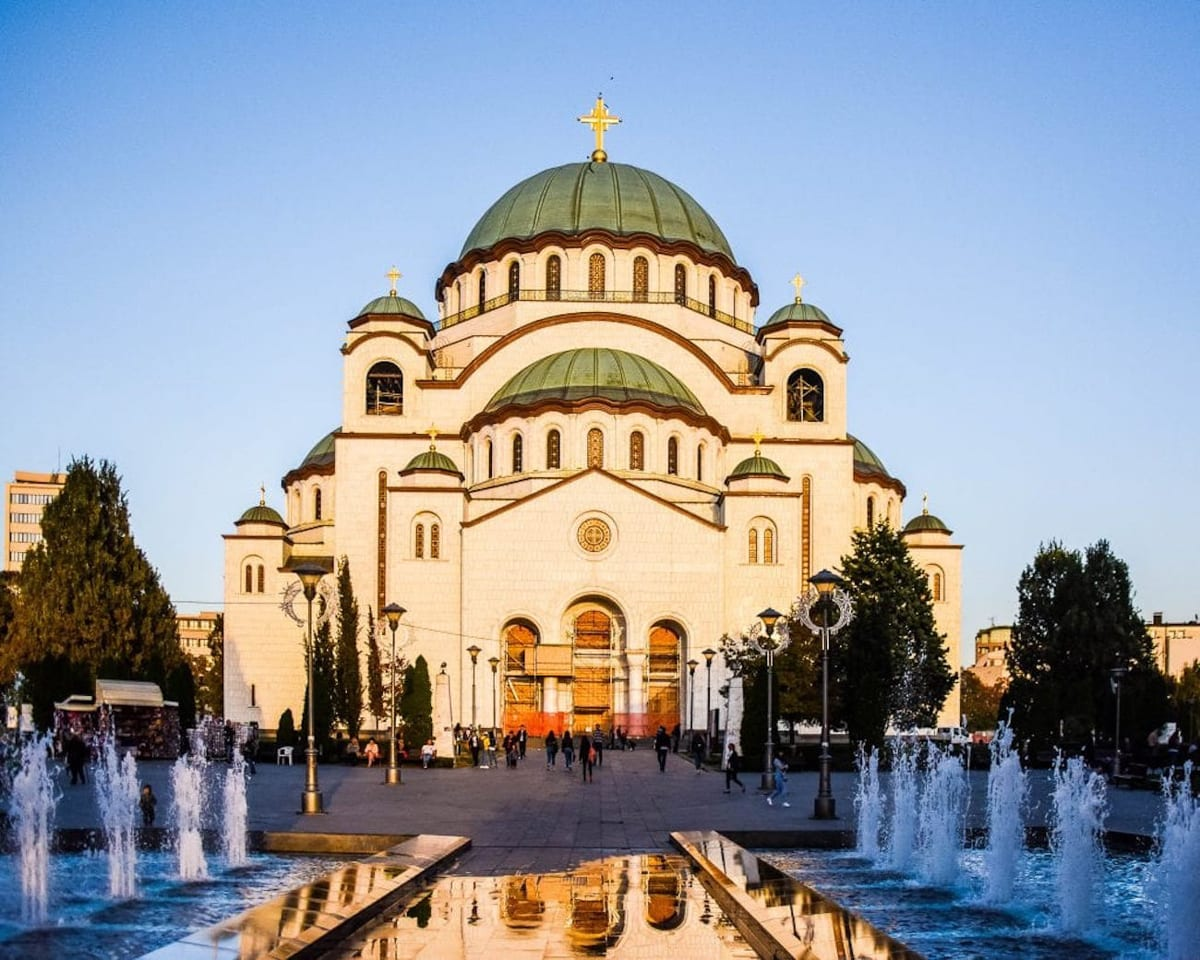 The Saint Sava Church in Belgrade is the largest Orthodox church in the Balkans