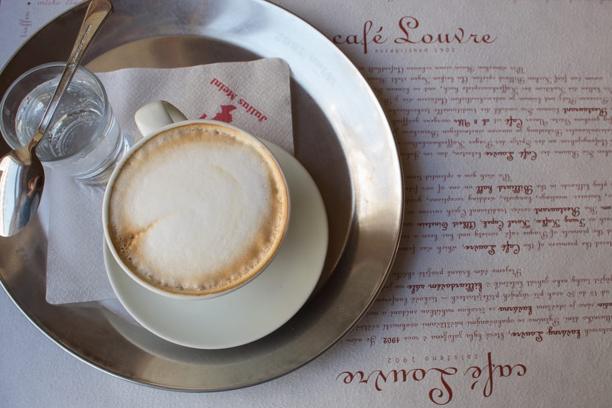 Cafe Louvre is one of the best places to eat in Prague for both the history and the food