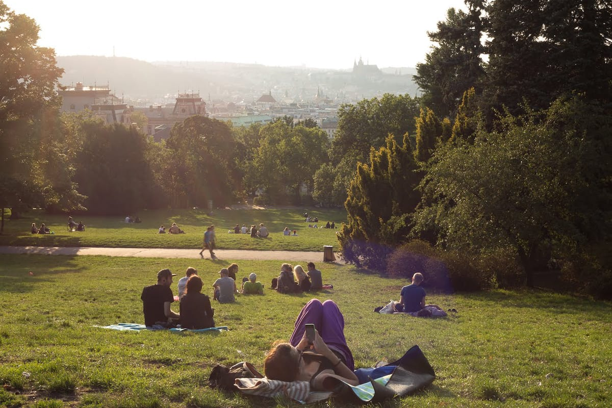 Do as the locals do when you visit Prague and sip a beer in the gardens