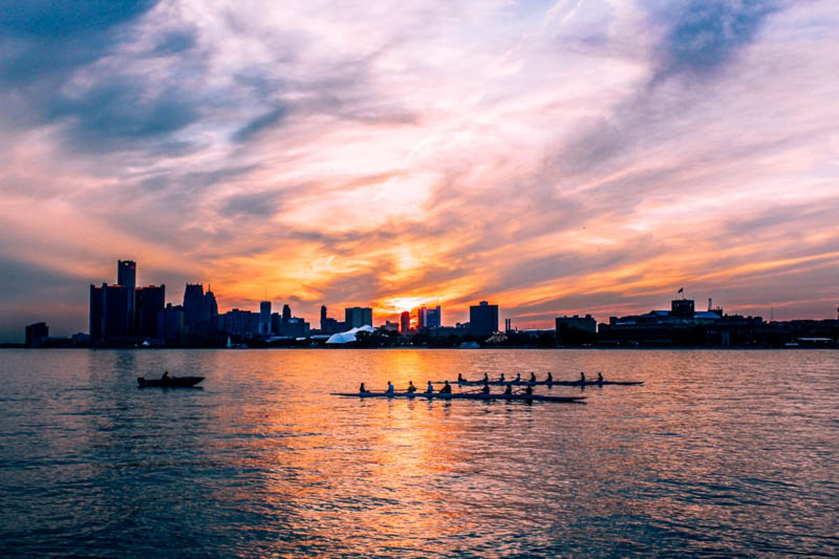 Belle Isle is one of the most beautiful places in Detroit to catch the sunset
