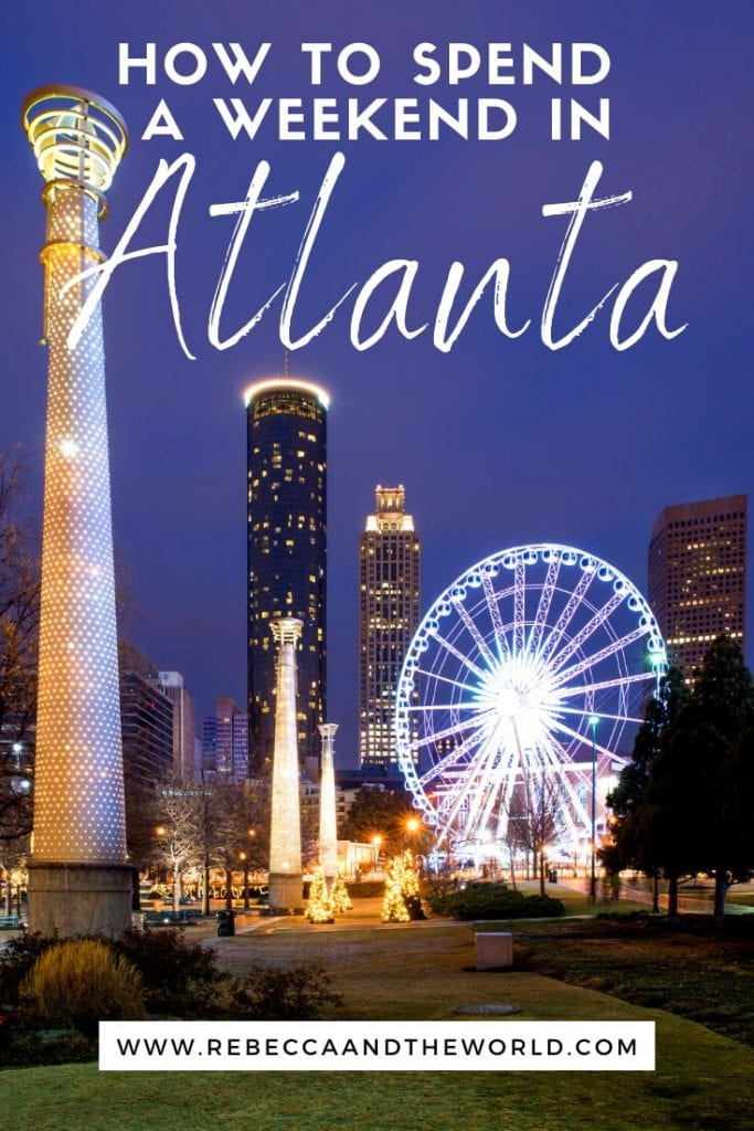 Planning a weekend in Atlanta, Georgia? Check out this guide to the best things to see, do and eat - all from a local! | #atlanta #AtlantaGA #atlantathingstodo #georgia #usatravel #unitedstates