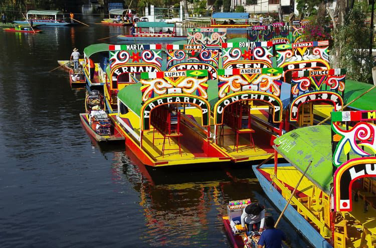 Grab some friends and rent a boat to explore Xochimilco in Mexico City