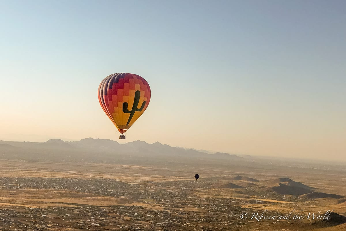 Soaring over the desert as the sun rises is a beautiful thing to do in Phoenix