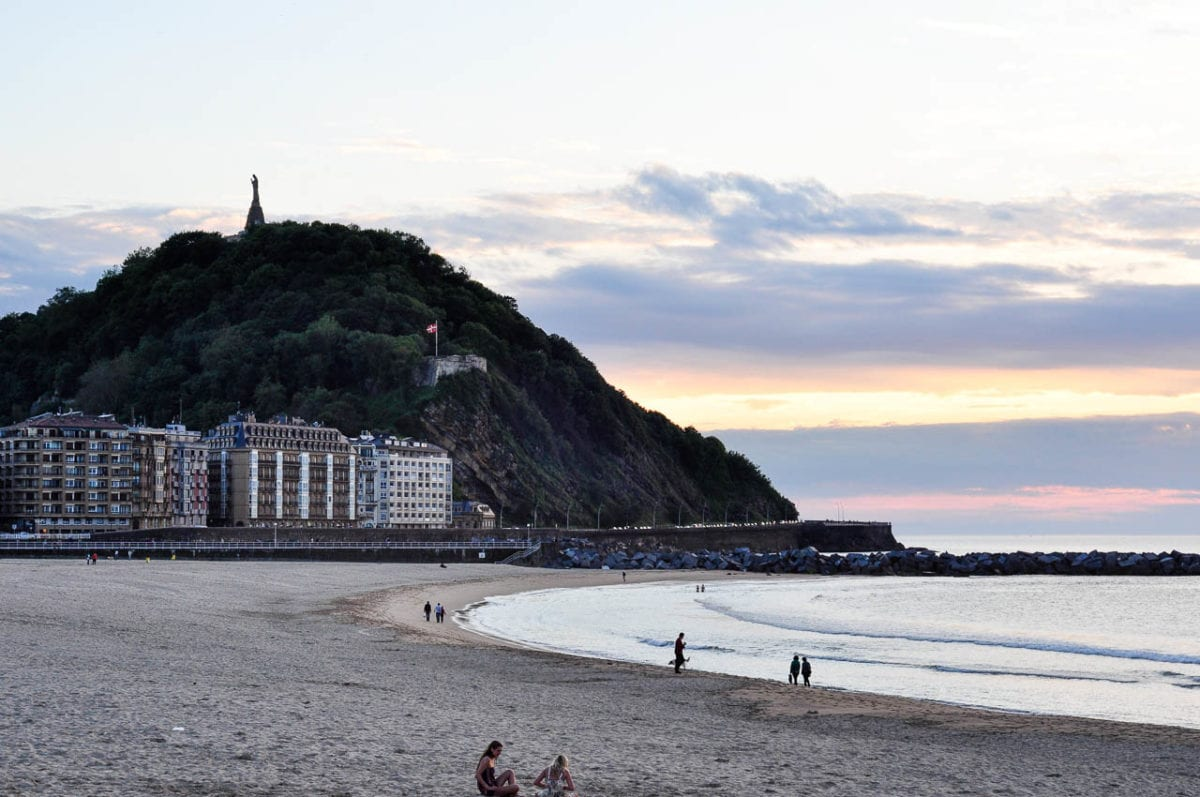 One of the most popular things to do in San Sebastian is relax on Playa de la Concha, or Shell Beach