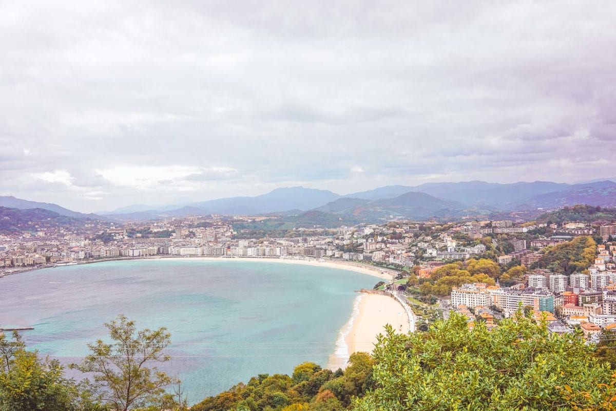 Monte Igueldo in San Sebastian offers stunning views over the city