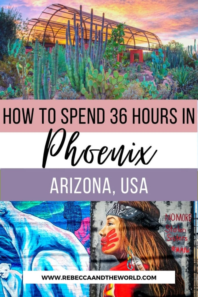 Only got 36 hours in Phoenix, Arizona? Here's your plan to make the most of the weekend or stopover. Click through for a guide to what to eat, see and do on your Phoenix itinerary. | #Phoenix #Arizona #PhoenixAZ #Arizonatravel #USATravel #travelguide