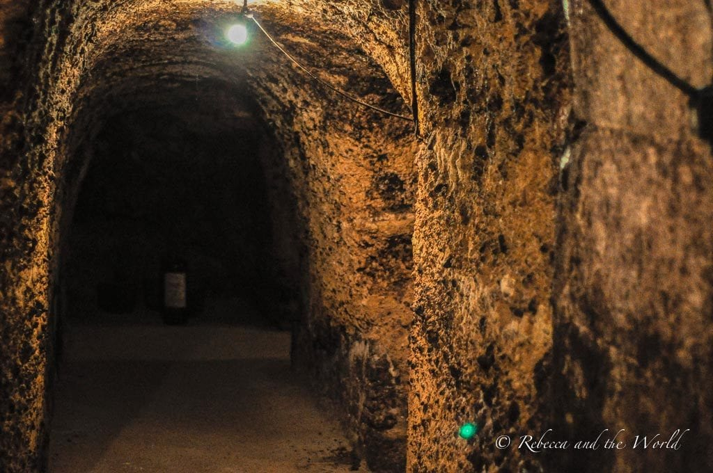 Explore an underground winery in La Rioja